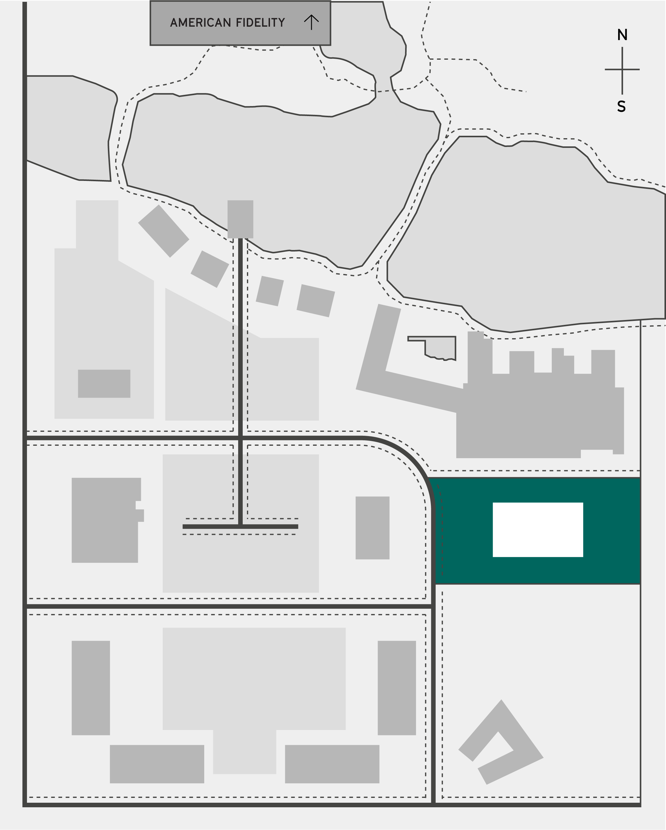 The half site map highlighting Chicken and Pickle