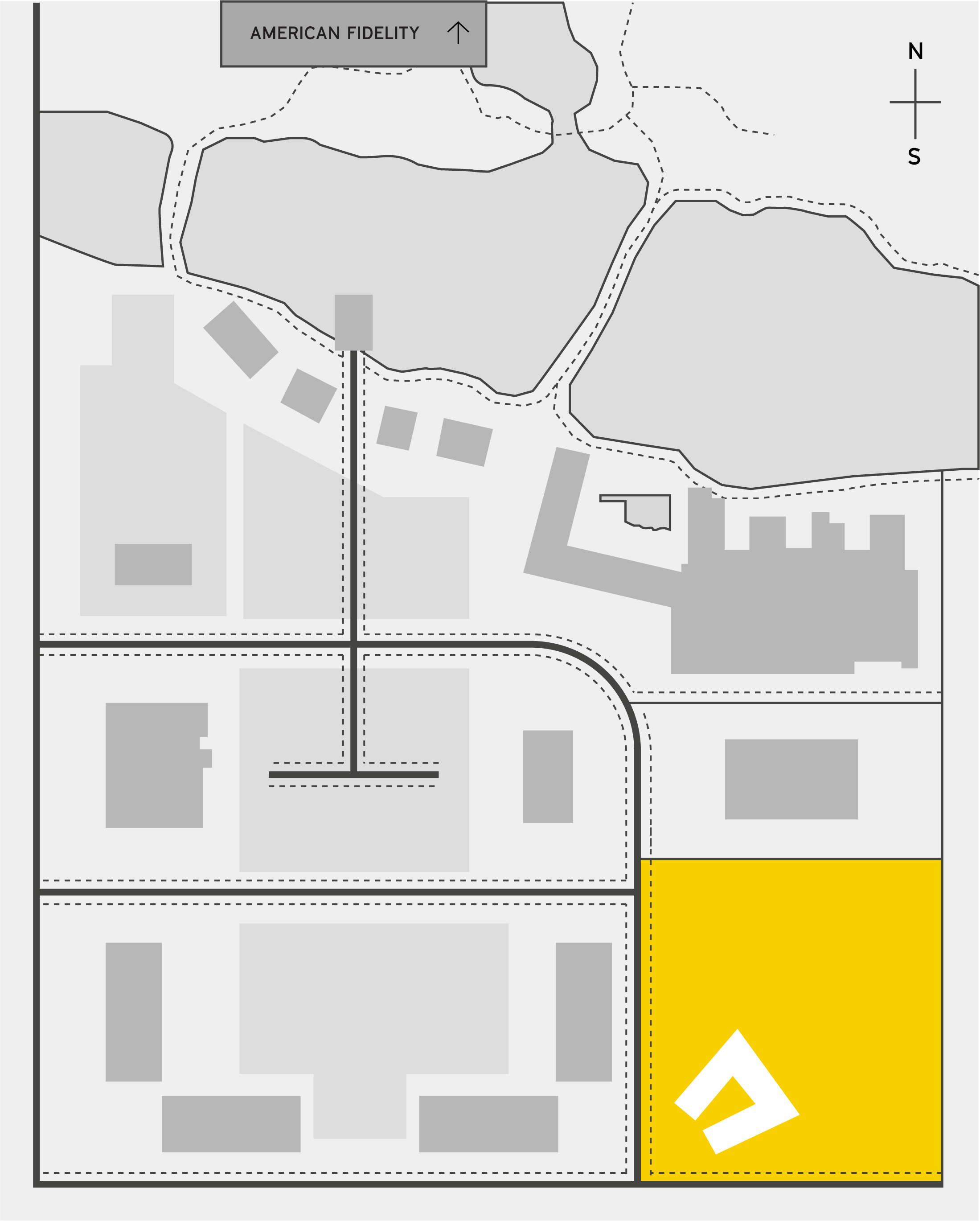 The half site map highlighting Dolese Bros