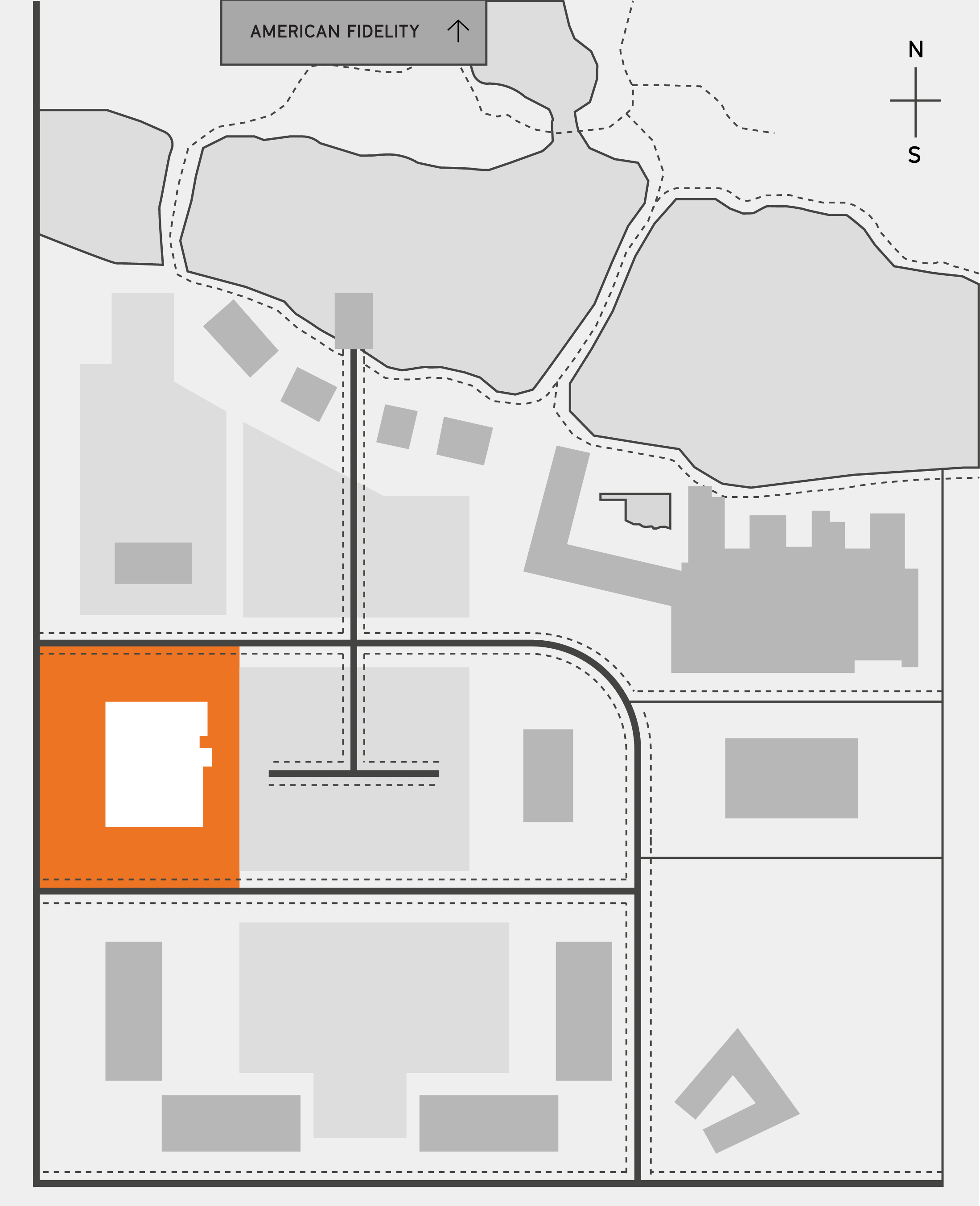 The half site map highlighting Flix Brewhouse